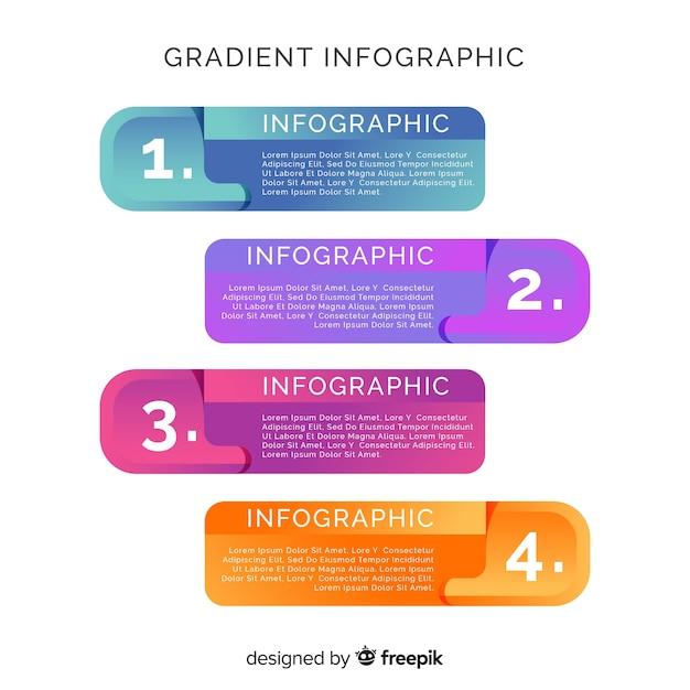 Cuadro de diálogo estilo empresarial infografía vector gratuito