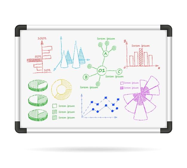 Cuadros de infografía de marcador vector gratuito