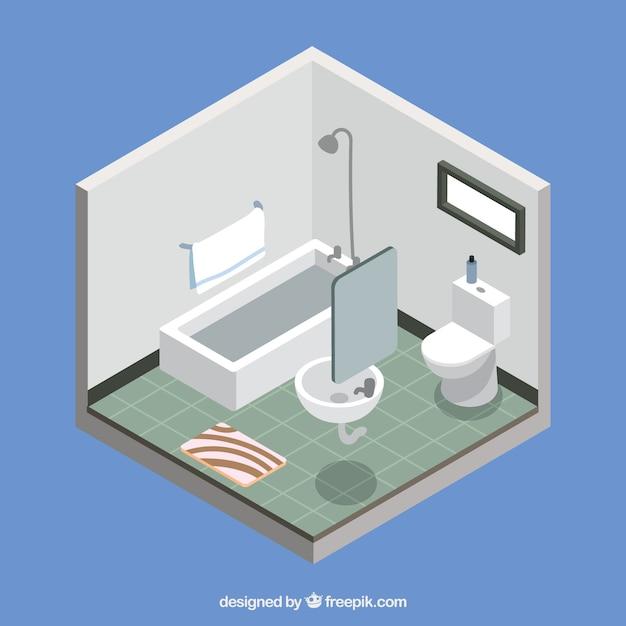 Cuarto de baño en diseño isométrico | Descargar Vectores gratis