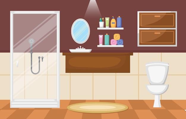 Cuarto de baño interior limpio moderno muebles de ...