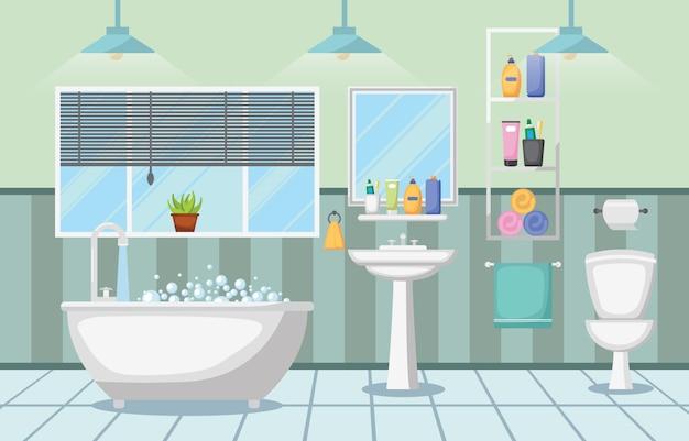 Cuarto de baño interior limpio moderno muebles de habitación ...