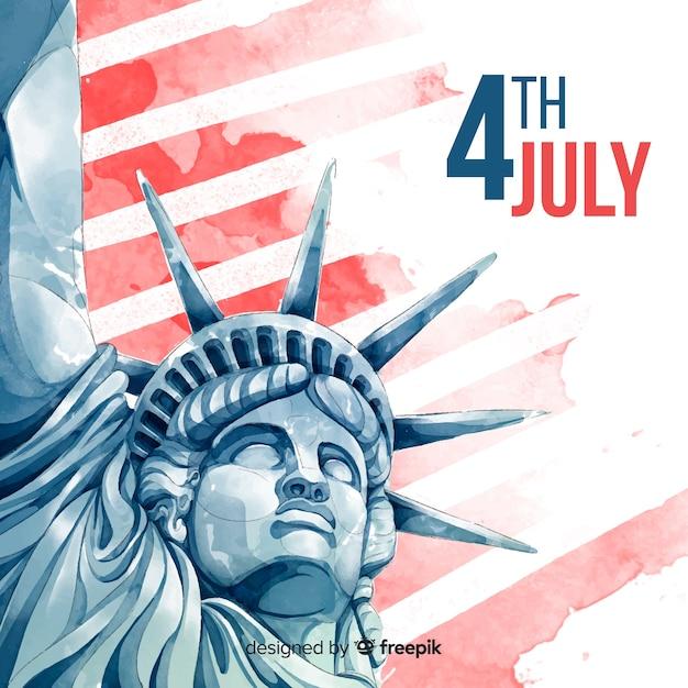 Cuatro de julio vector gratuito