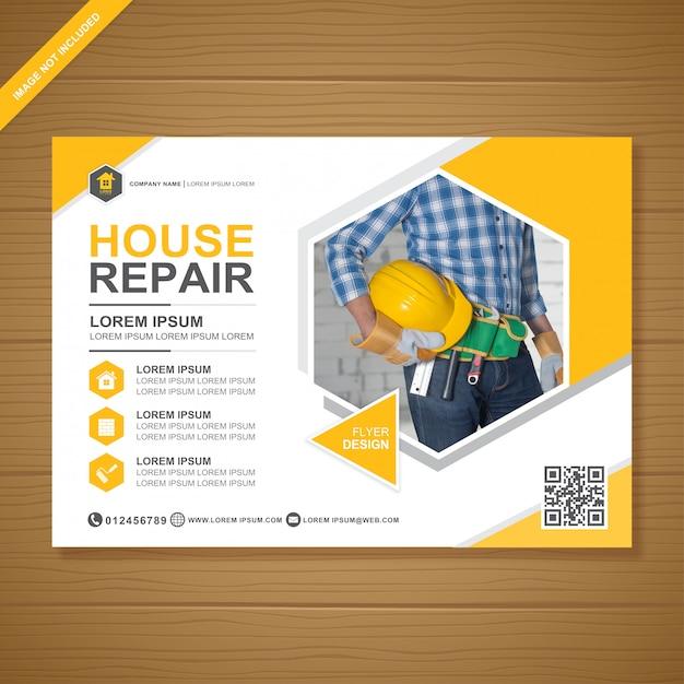 Cubierta de herramientas de construcción Vector Premium