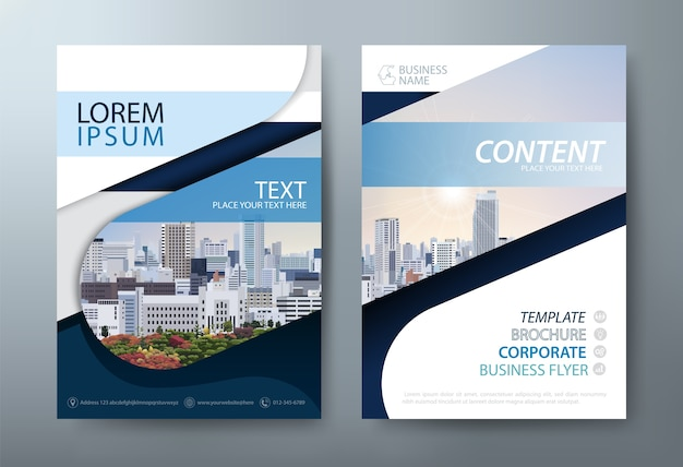 Cubierta de negocios, plantilla de flyer. diseño en tamaño a4. Vector Premium