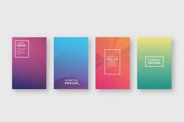 Cubiertas de colores abstractos vector gratuito
