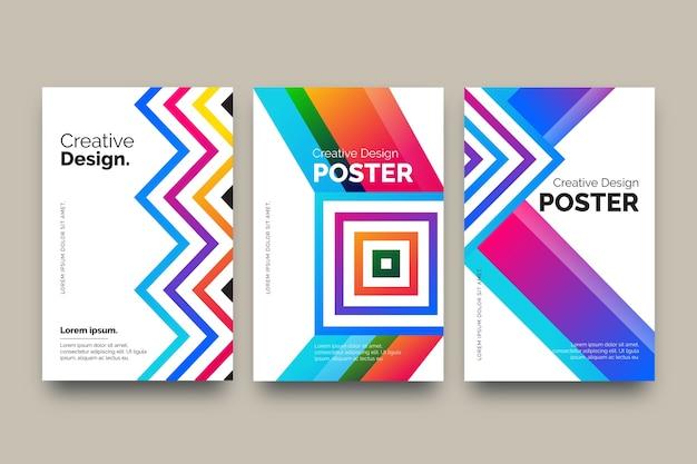 Cubiertas coloridas abstractas Vector Premium