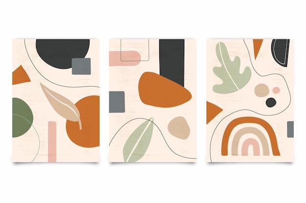 Cubiertas dibujadas a mano abstractas de color pastel vector gratuito