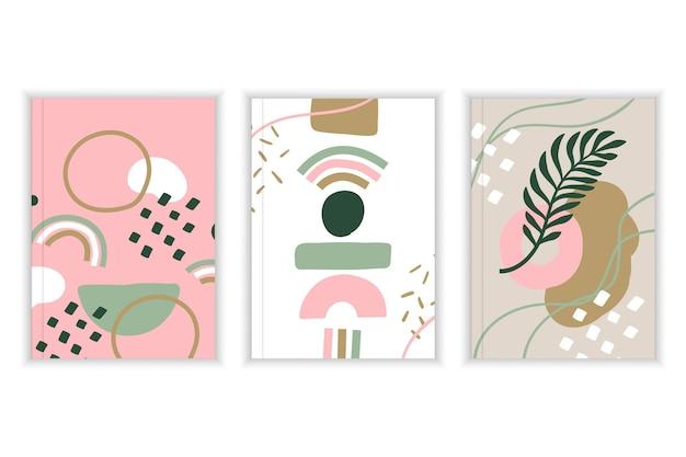 Cubiertas de formas abstractas vector gratuito