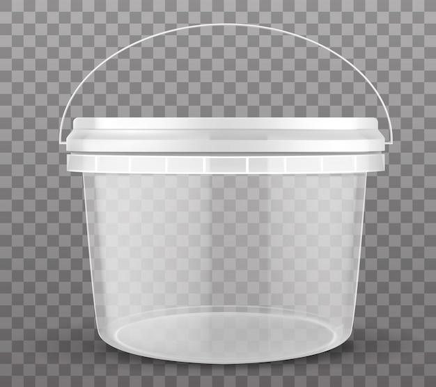 Cubo de plástico transparente vector gratuito