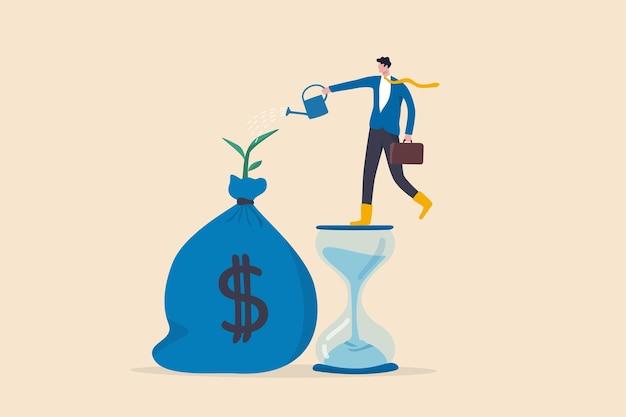 Cuenta de ahorro e inversión, prosperidad, crecimiento de las ganancias de interés compuesto Vector Premium