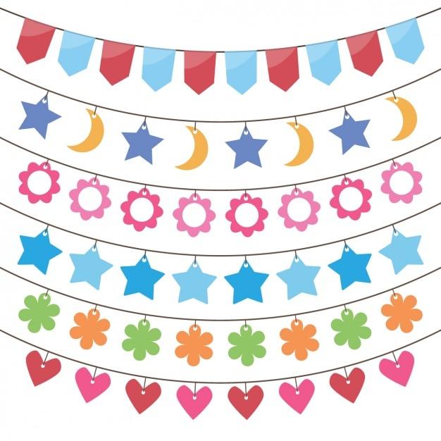 Cuerda con adornos de colores descargar vectores gratis - Cuerdas de colores ...