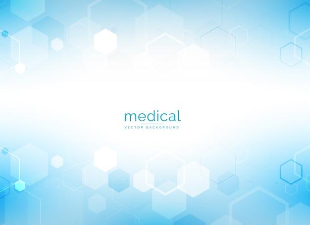 Cuidado de la salud y antecedentes médicos con formas geométricas hexagonales Vector Gratis