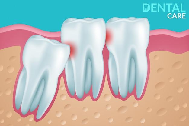 Cuidado dental y dientes Vector Premium