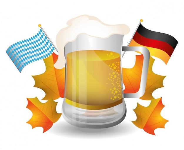 Culturas de alemania y diseño del festival de oktober. Vector Premium