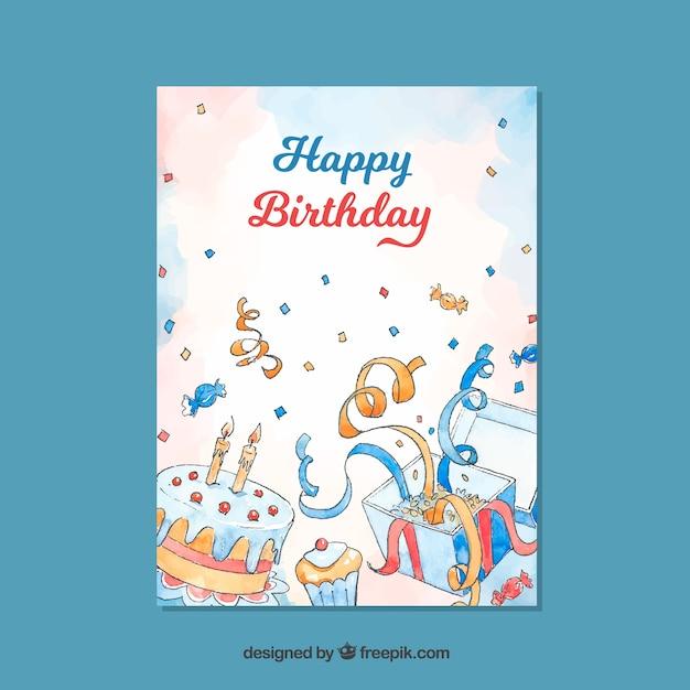 Cumpleaños vector gratuito