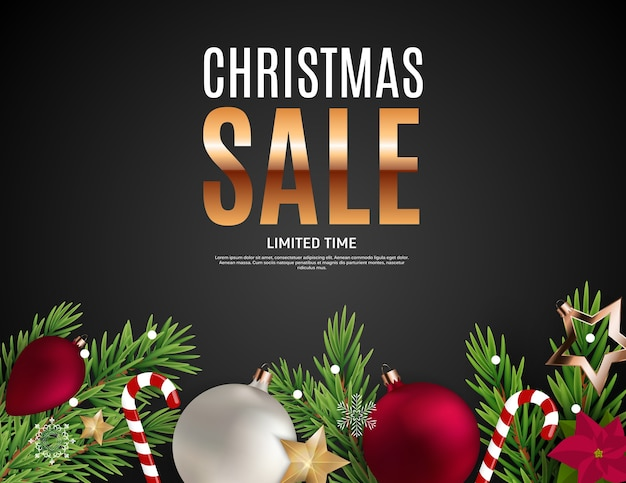 Cupón de regalo de venta de navidad y año nuevo, cupón de descuento Vector Premium