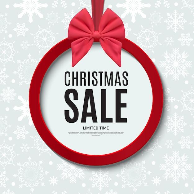 Cupón de regalo de venta de navidad y año nuevo, ilustración de vector de plantilla de cupón de descuento Vector Premium