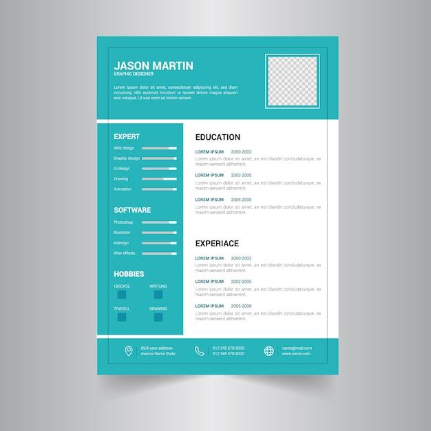 Curriculum simple | Descargar Vectores Premium
