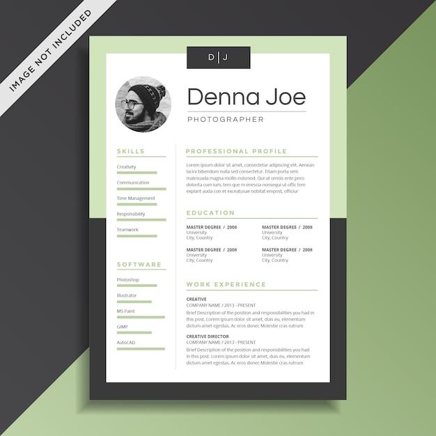 Curriculum vitae creativo y profesional cv plantilla de diseño ...