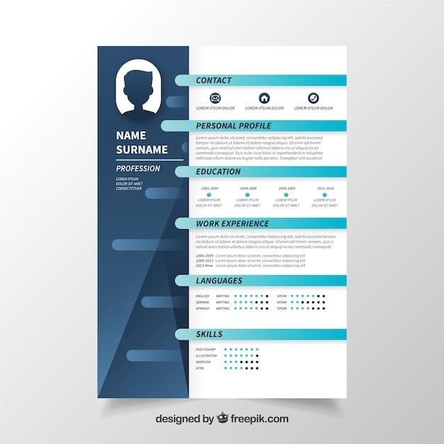 Curriculum vitae profesional azul | Descargar Vectores gratis