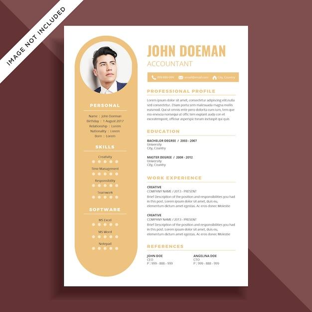 Curriculum vitae simple cv diseño de la plantilla | Descargar ...