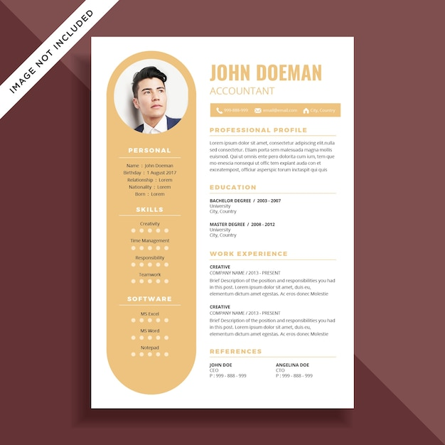 Curriculum Vitae Simple Cv Diseno De La Plantilla Descargar