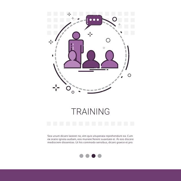 Cursos de capacitación de aprendizaje Vector Premium