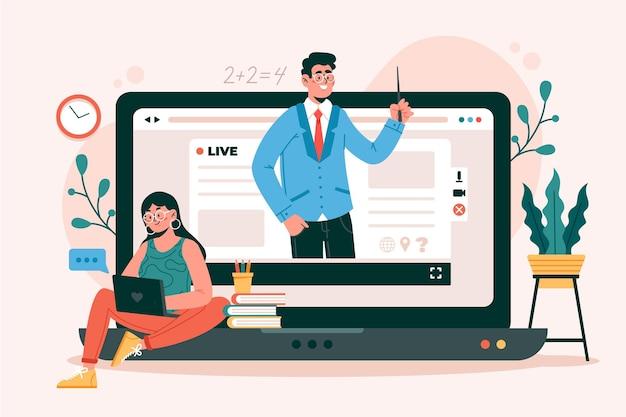 Cursos y tutoriales en línea. vector gratuito