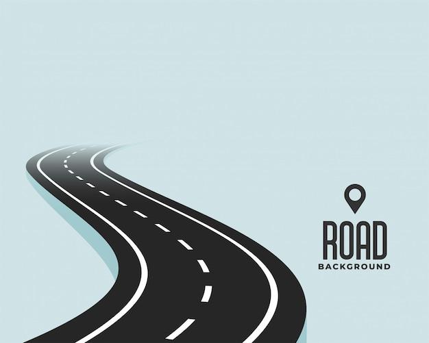 Curva sinuosa camino negro camino de fondo vector gratuito