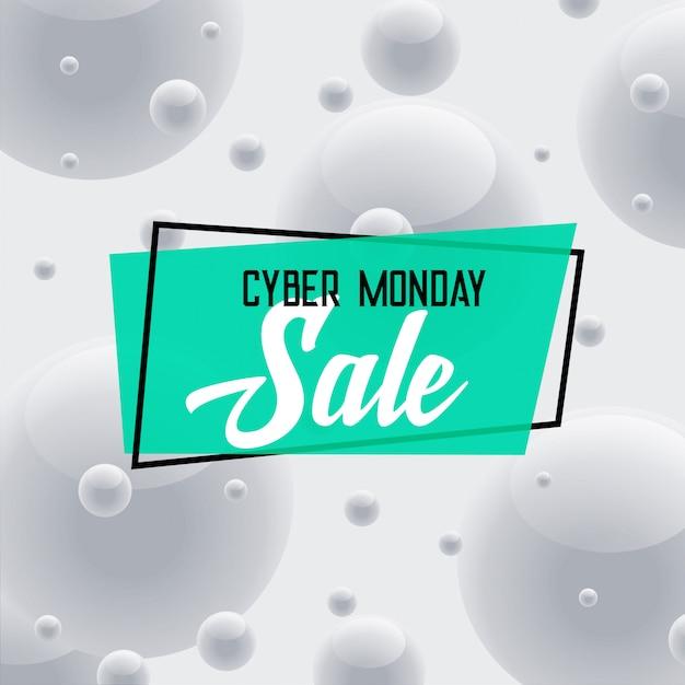 Cyber lunes venta fondo gris vector gratuito