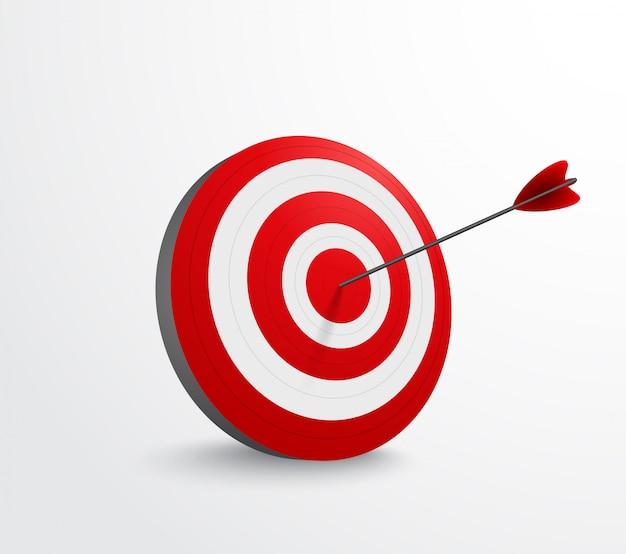 Dart target con flecha Vector Premium