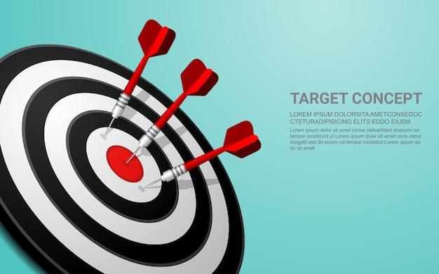 Darts objetivo vector éxito negocio soluciones concepto. Vector Premium