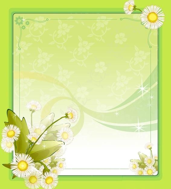 de flores de primavera marco | Descargar Vectores gratis
