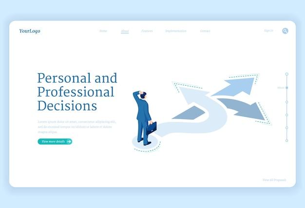 Decisión profesional vector gratuito