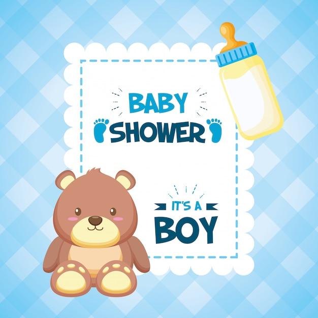 Decoración para baby shower vector gratuito
