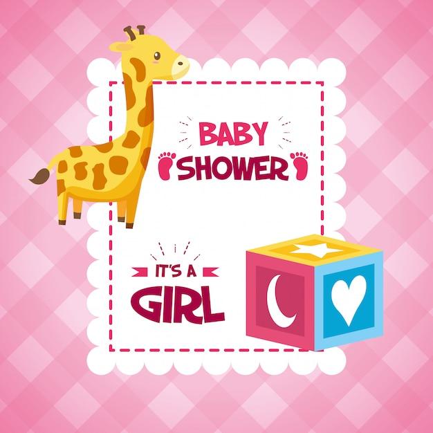 Decoracion De Baby Shower De Animales.Decoracion Para Baby Shower Vector Gratis