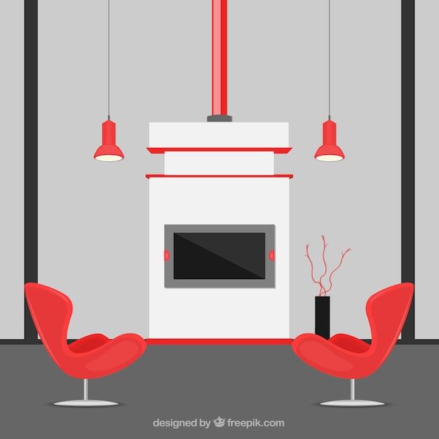 Decoraci n de la casa moderna descargar vectores gratis for Casa moderna vector