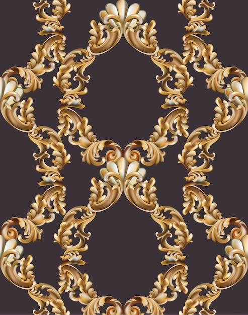 Decoración de marco barroco de la vendimia. ilustración de vector de ...