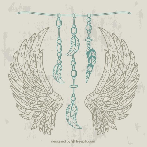 decoracin de plumas de indio vector gratis