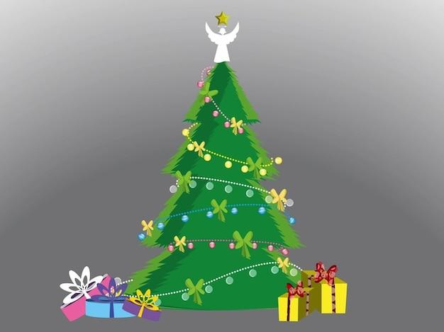 Decoraci n del rbol de navidad y regalos descargar - Adornos del arbol de navidad ...