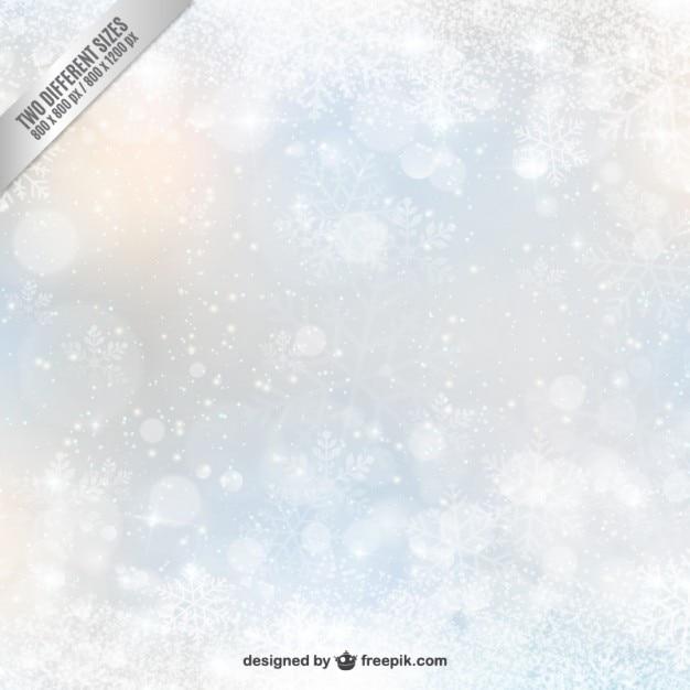 Decoraci N Difuminada Con Copos De Nieve Descargar Vectores Gratis