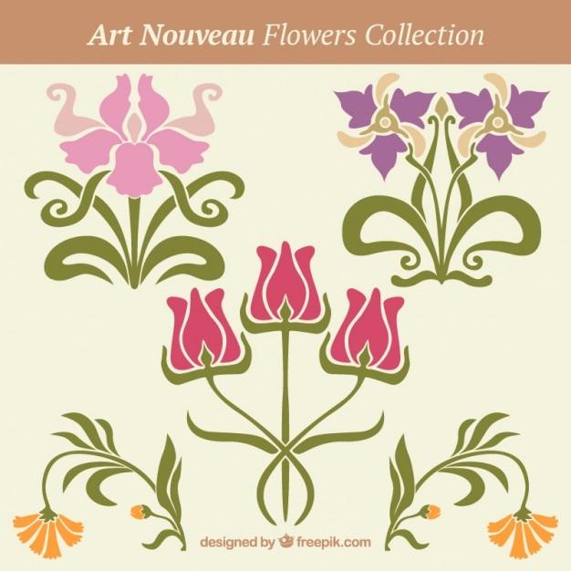 Decoraci n floral en estilo art nouveau descargar for Decoracion art nouveau