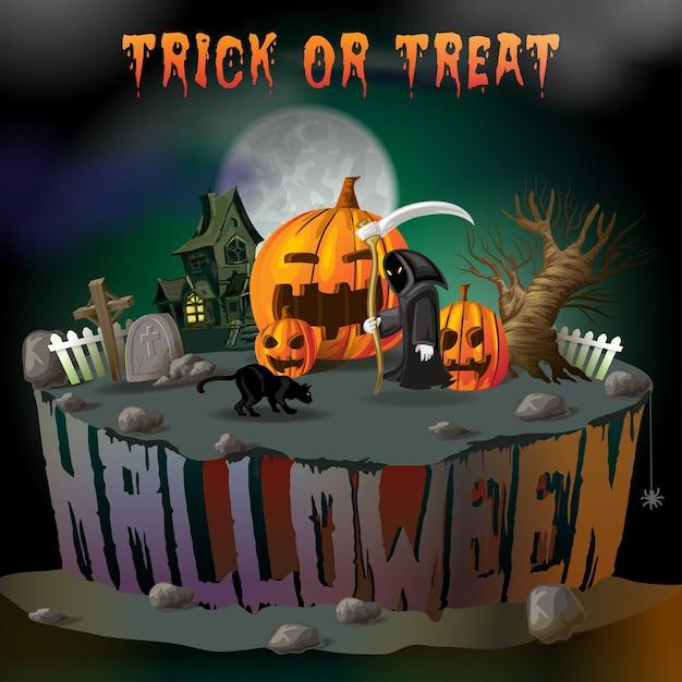 Decoración de halloween Vector Premium
