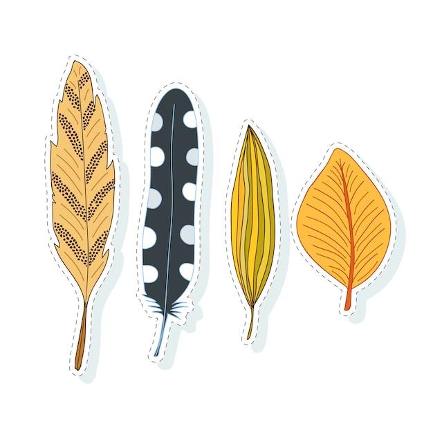 Decoración de hojas de otoño. colección de vectores para el diseño ...