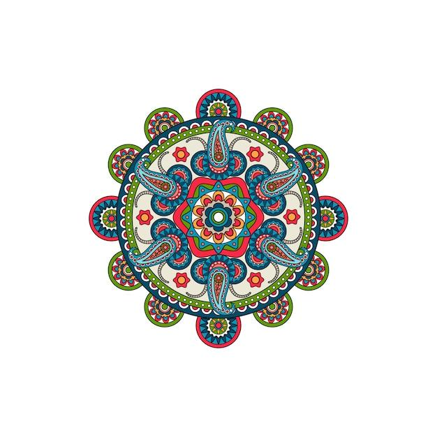 Decoracion mandala adorno roseta Vector Premium