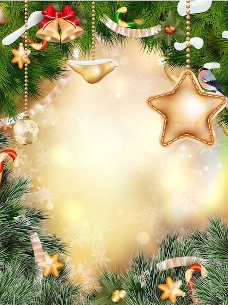 Decoración navideña. Vector Premium