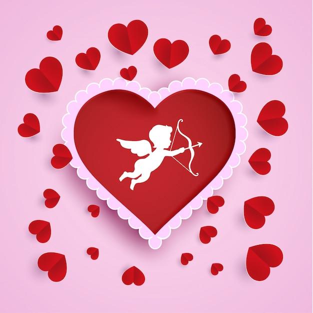 Decoración De Los Símbolos Del Amor Y De Los ángeles Del
