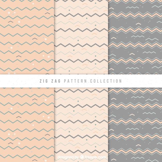 Decorativos patrones vintage zig zag | Descargar Vectores gratis
