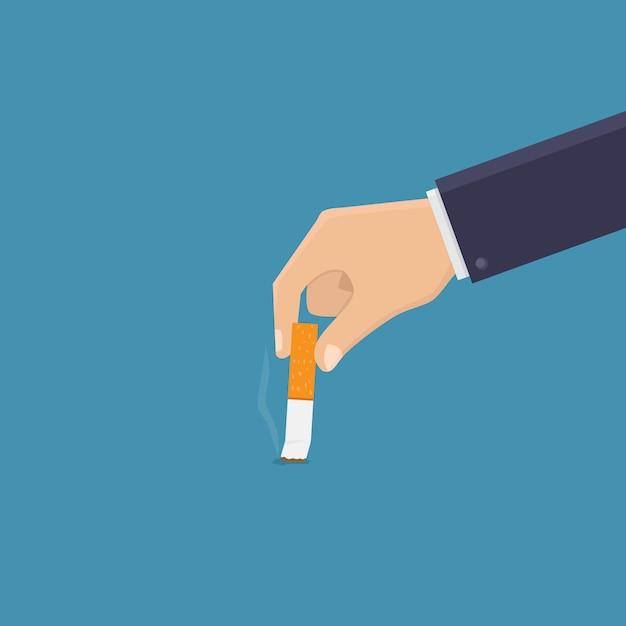 Deja de fumar, apaga el cigarrillo Vector Premium