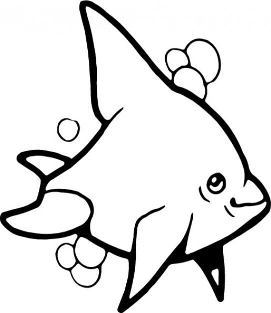 Delfín en blanco y negro para colorear | Descargar Vectores gratis